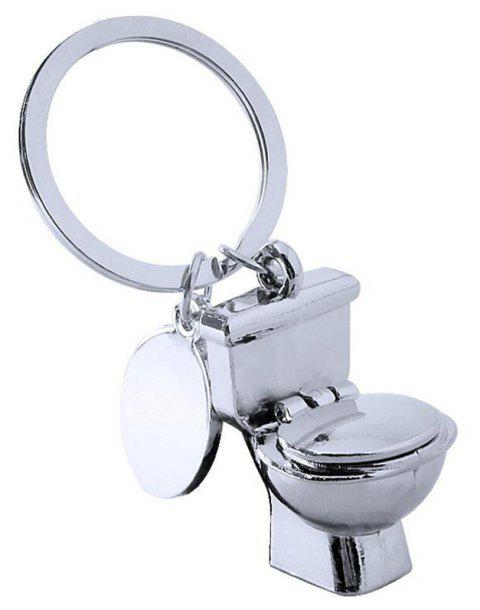 Quality Creative Personality Toilet Keychain - SILVER