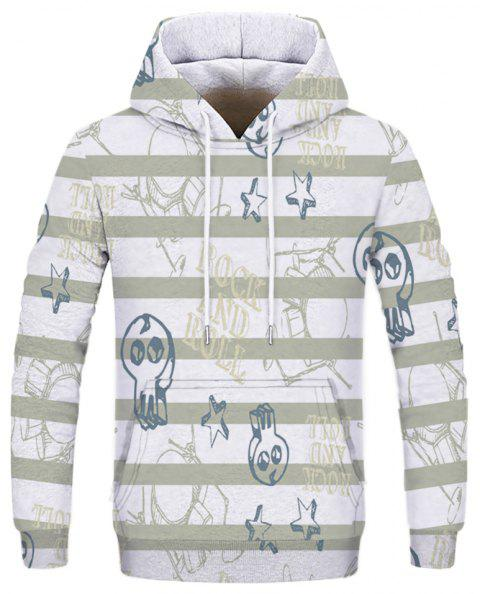 New Autumn and Winter Sports Series Double Hooded Sweatshirt - multicolor D 2XL