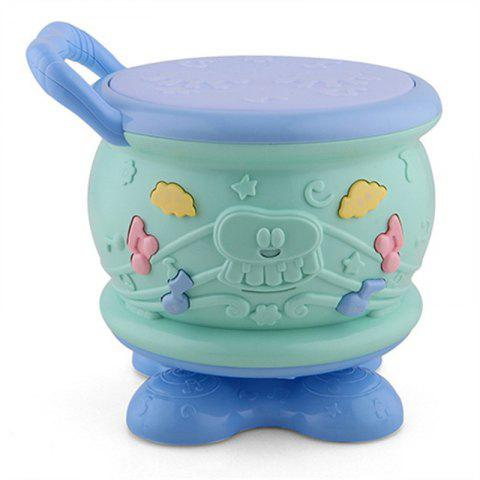 Electric Rotary Hand Drum Early Childhood Music Toy - multicolor