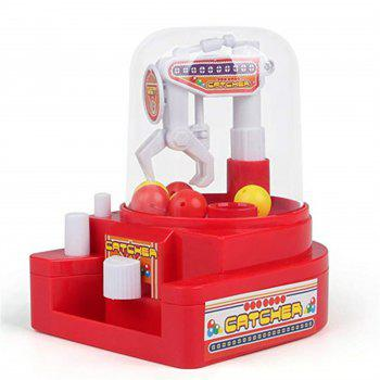 Mini Grab Doll Machine Ball Candy Kids Toy - RED