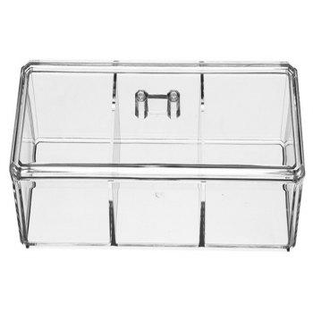 Transparent Acrylic Dustproof Cosmetic Storage Box - TRANSPARENT