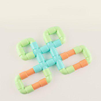 Happy Maty LY-Z1007 Makaron Color Pipe Building Blocks - multicolor 88PCS