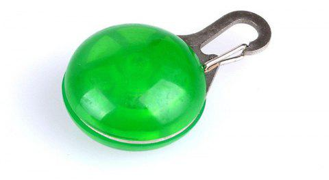 LED Light Round Pendant Pet Jewelry Accessories - YELLOW GREEN