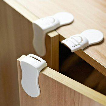 Multi-function Anti-pinch Refrigerator Right Angle Cabinet Door Lock - WHITE
