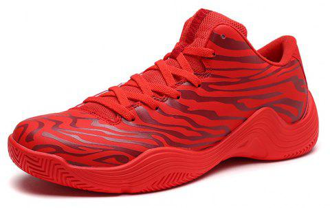 Tiger Stripped Stylish Plus Size Light Convenient Basketball Shoes - RED EU 39