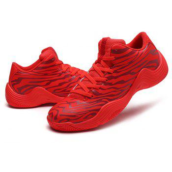 Tiger Stripped Stylish Plus Size Light Convenient Basketball Shoes - RED EU 41