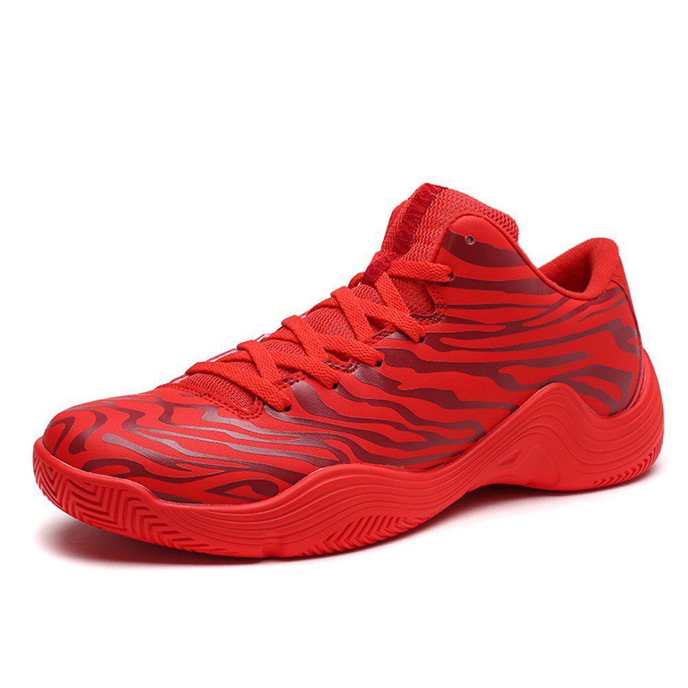 Tiger Stripped Stylish Plus Size Light Convenient Basketball Shoes - RED EU 43