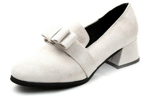 Casual Shallow Round Head Shoes - WHITE EU 35