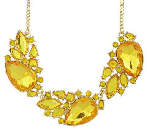 Fashion Irregular Multi Cut Gemstone Necklace for Women - multicolor A
