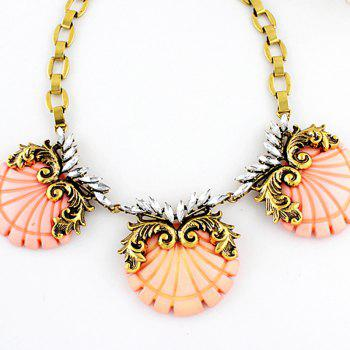Fashion Exaggerated Resin Shell Necklace for Women - multicolor