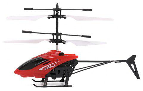 Mini Infrared Sensor Helicopter Aircraft Electric Micro Flying Toy Gift for Kid - CHERRY RED