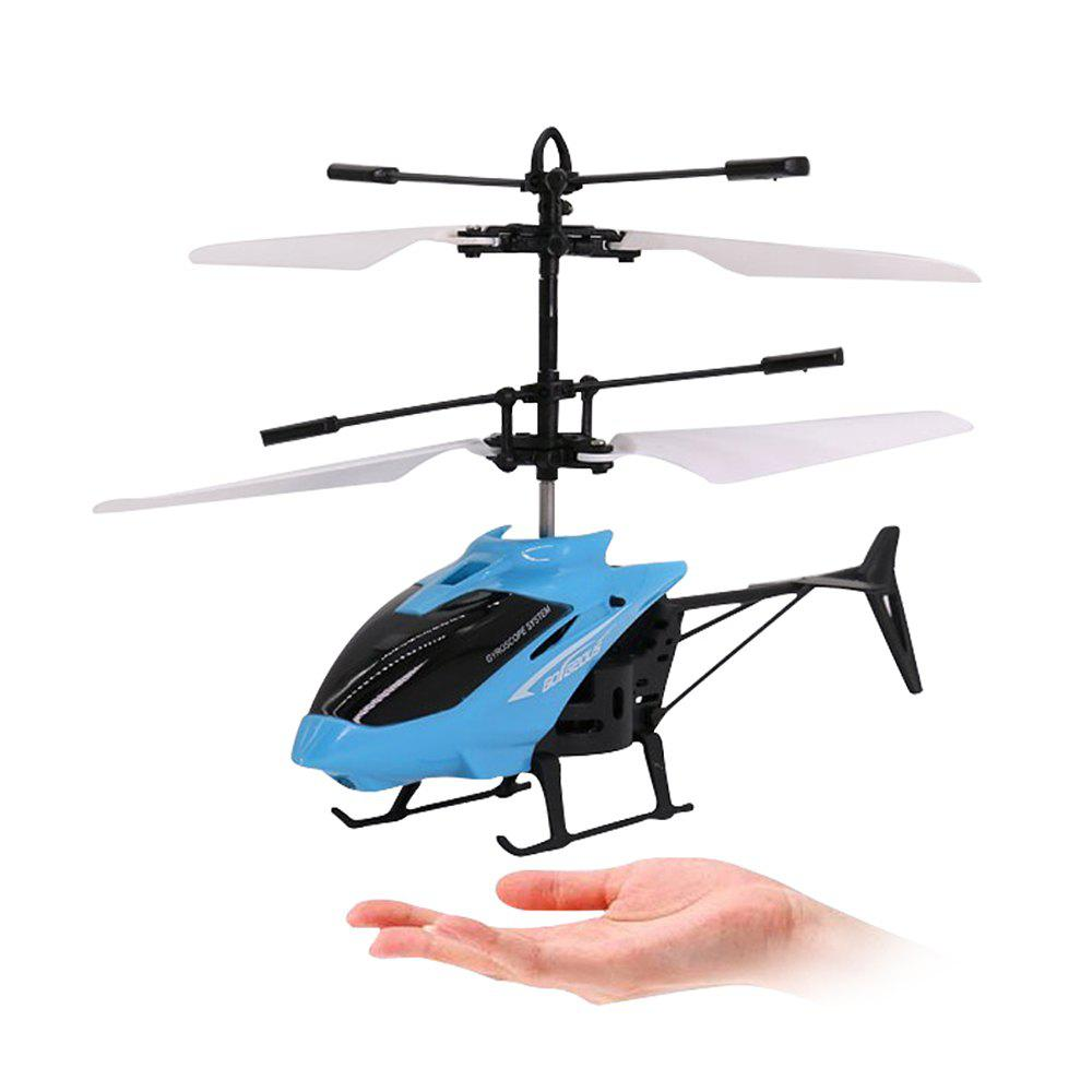 Mini Infrared Sensor Helicopter Aircraft Electric Micro Flying Toy Gift for Kid - BLUE KOI