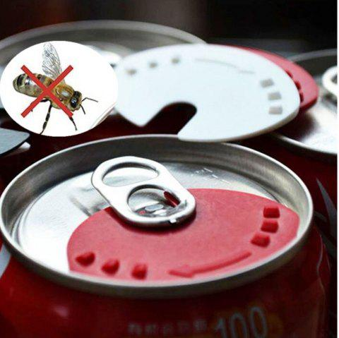 5 PCS Beverage Can Lid Soda Beverage Drink Snaps Tops Cover Beer Champagne Wine - multicolor