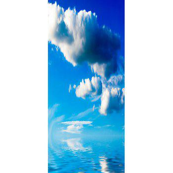 MailingArt 3D HD Canvas Print Door Wall Sticker Mural Home Decoration Sea Clouds - multicolor 77 X 200CM