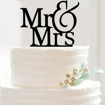 Mr and Mrs Letters of An Alphabet Cake Insert Row - BLACK