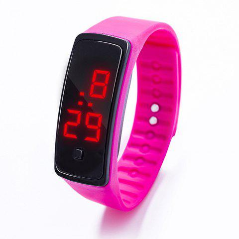 Fashion Creative  Screen Smart Digital LED  Watch - NEON PINK