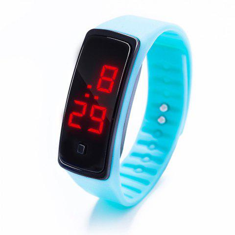 Fashion Creative  Screen Smart Digital LED  Watch - LIGHT AQUAMARINE