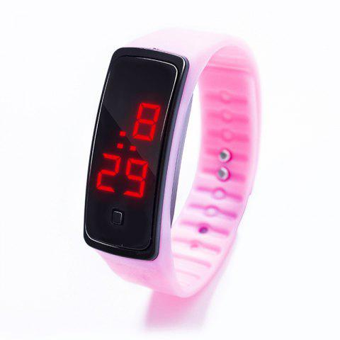 Fashion Creative  Screen Smart Digital LED  Watch - PIG PINK