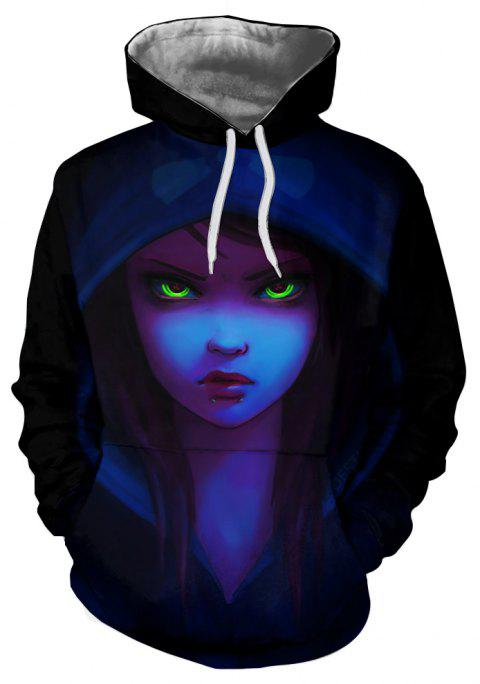 New Autumn and Winter Characters Series Hooded Sweatshirt - multicolor A S