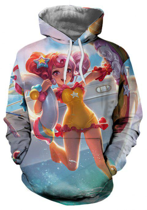 New Autumn and Winter Characters Series Hooded Sweatshirt - multicolor E XL