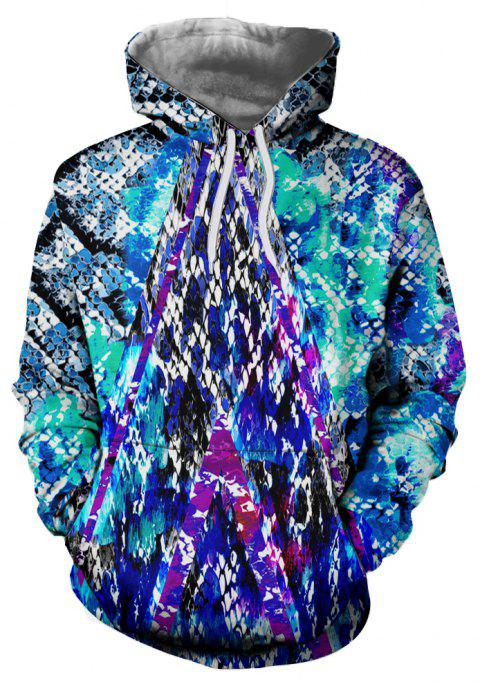 New Autumn and Winter Multi-color Series Hooded Sweatshirt - multicolor D M