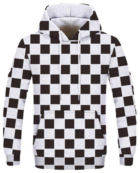 New Striped Plaid Fashion Double Hooded Sweatshirt - multicolor A 2XL