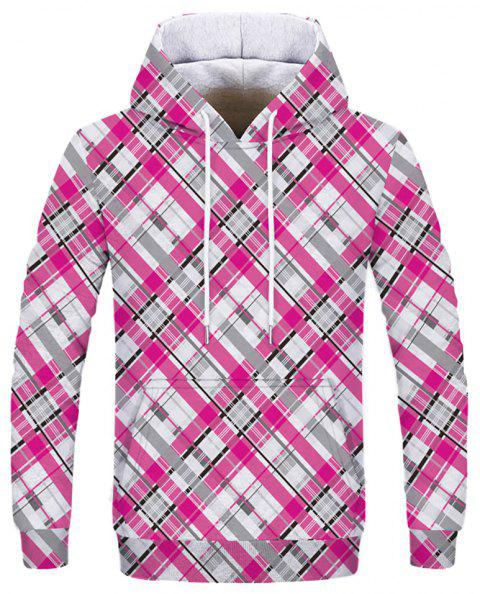 New Striped Plaid Fashion Double Hooded Sweatshirt - multicolor D 2XL