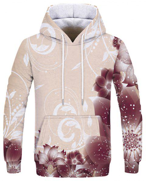 New Fashion Casual Digital Print Hooded Sweatshirt - multicolor A XS