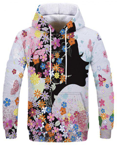 New Fashion Casual Digital Print Hooded Sweatshirt - multicolor B 2XL