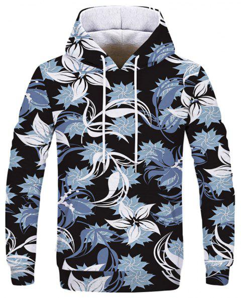 New Fashion Casual Digital Print Hooded Sweatshirt - multicolor D L
