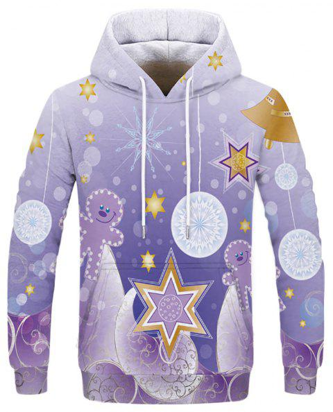 New Men's Casual Digital Printing Double Hooded Sweatshirt - multicolor B L