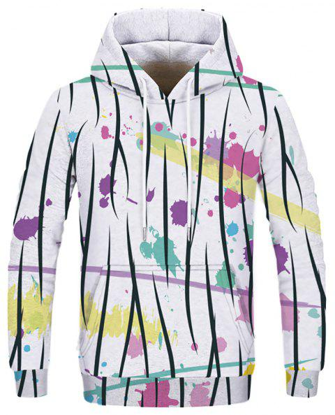 New Men's Casual Digital Printing Double Hooded Sweatshirt - multicolor C L