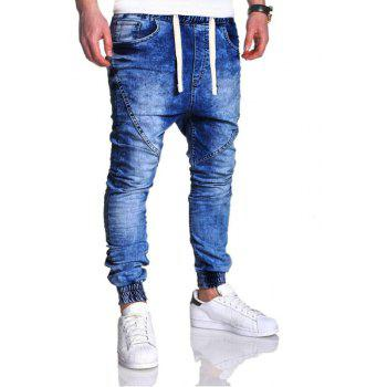 Men's Fashion Casual Loose Jeans - BLUE XL