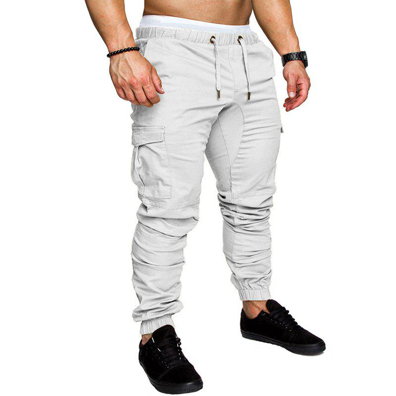 Men's Casual Fashion Trousers - WHITE L