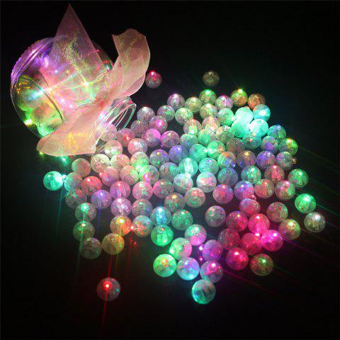 10PCS LED Round Ball Balloon Light Paper Lantern Wedding Party Decor - multicolor