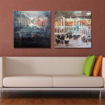 DYC 2PCS Fashion Abstracts Print Art - multicolor