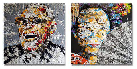 DYC 2PCS Character Abstraction Print Art - multicolor