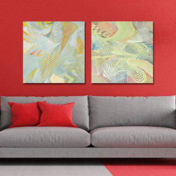 DYC 2PCS Abstract Liness Print Art - multicolor
