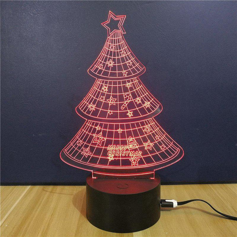 Christmas Tree Gift LED Touch Colorful Color 3D Light - multicolor