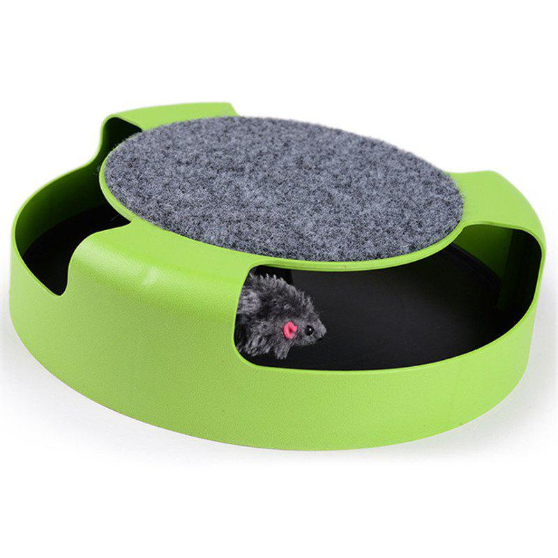 Pet Mouse Crazy Training Funny Toy For Cat Playing with Mice Cute - LAWN GREEN