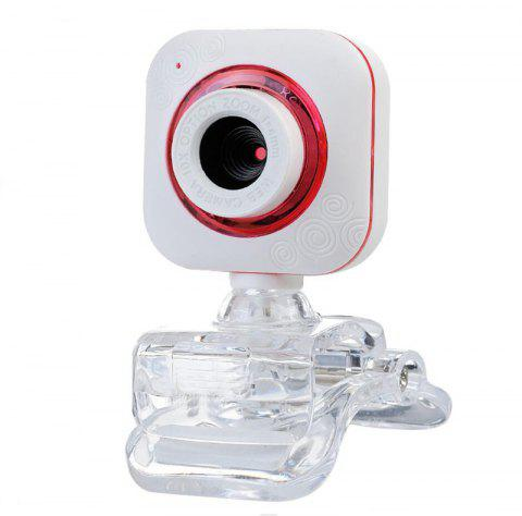 USB 2.0 10 Megapixel HD Web Camera with MIC Clip-on - WHITE