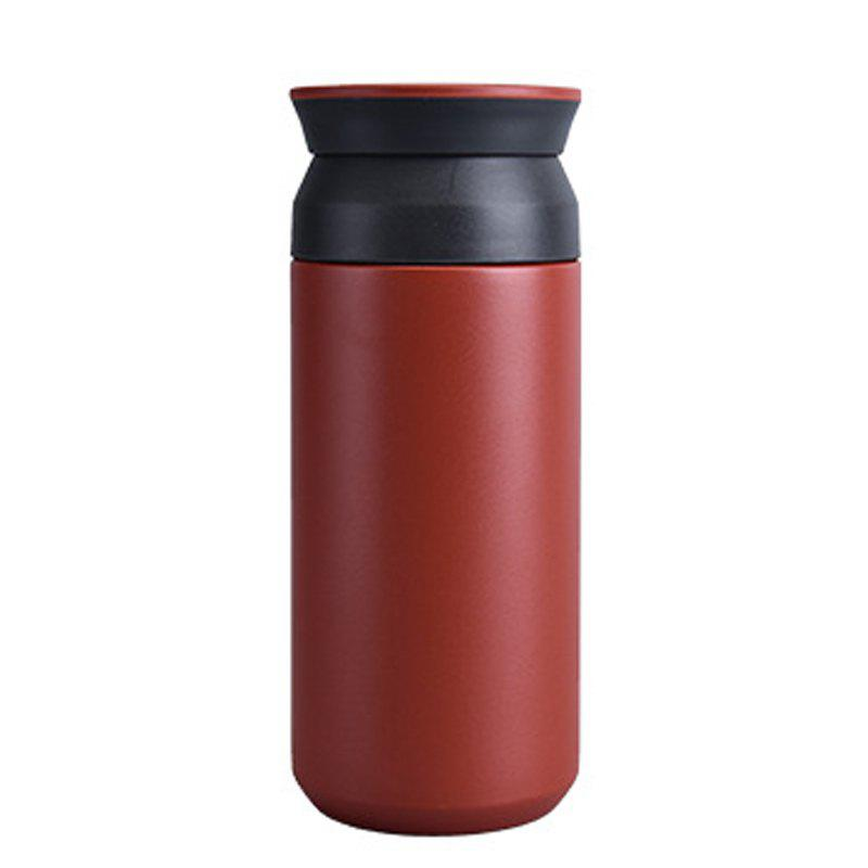 Up and Down Double Cover Tea Compartment Design 304 Stainless Steel Vacuum - RED WINE