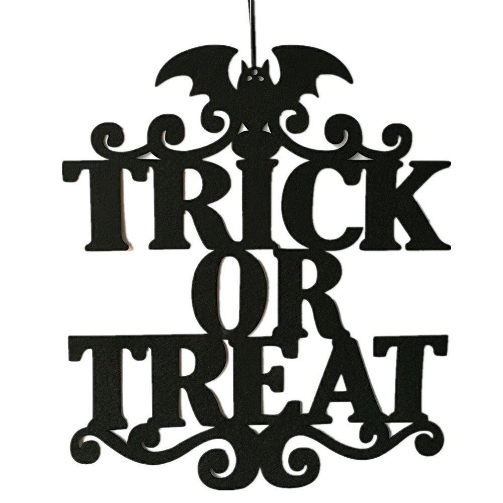 Halloween Hanging Door Decorations Wall Party Home Decoration Holiday Accessorie - GRAPHITE BLACK