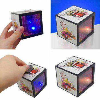 Novelty Flash Magic Money Box Props Coin Disappear Halloween Tricks Toy - multicolor