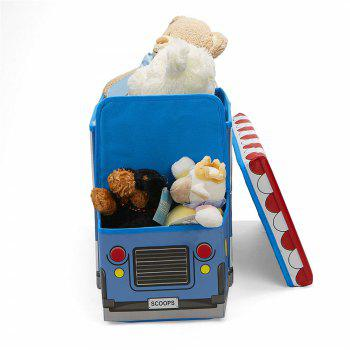 Collapsible Cartoon Vehicle Shape Toy Organizer Clothes Storage Box Bin for Kids - multicolor G