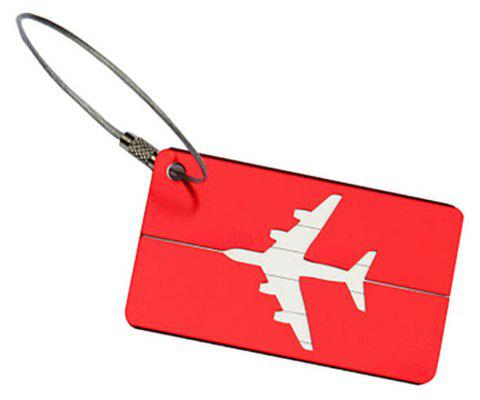Aluminum Alloy Luggage Tag Travel ID Labels for Baggage Suitcases and Bags - RED