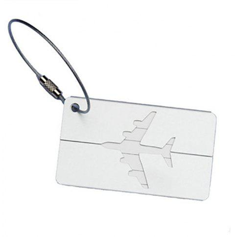Aluminum Alloy Luggage Tag Travel ID Labels for Baggage Suitcases and Bags - SILVER