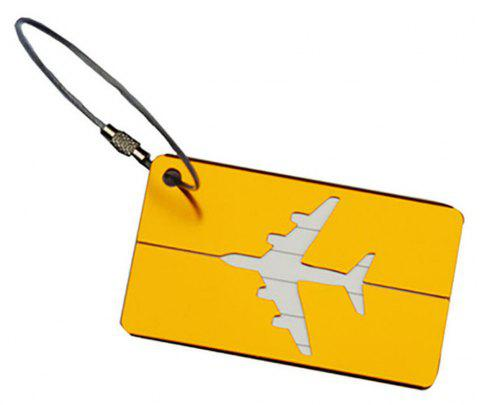 Aluminum Alloy Luggage Tag Travel ID Labels for Baggage Suitcases and Bags - GOLD