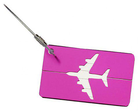 Aluminum Alloy Luggage Tag Travel ID Labels for Baggage Suitcases and Bags - TYRIAN PURPLE
