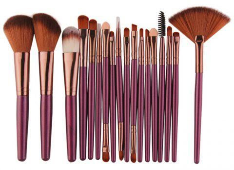 Professional Make Up Brushes Set 18 PCS - PLUM VELVET